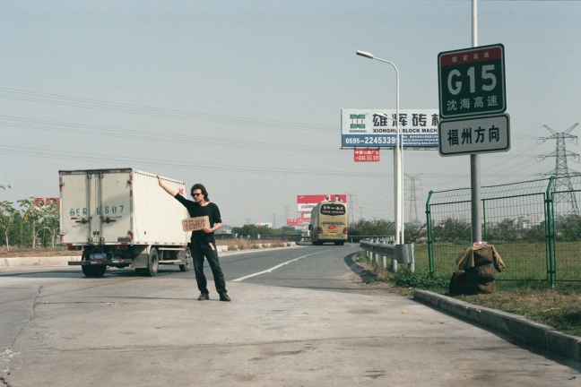 hitchhike in China