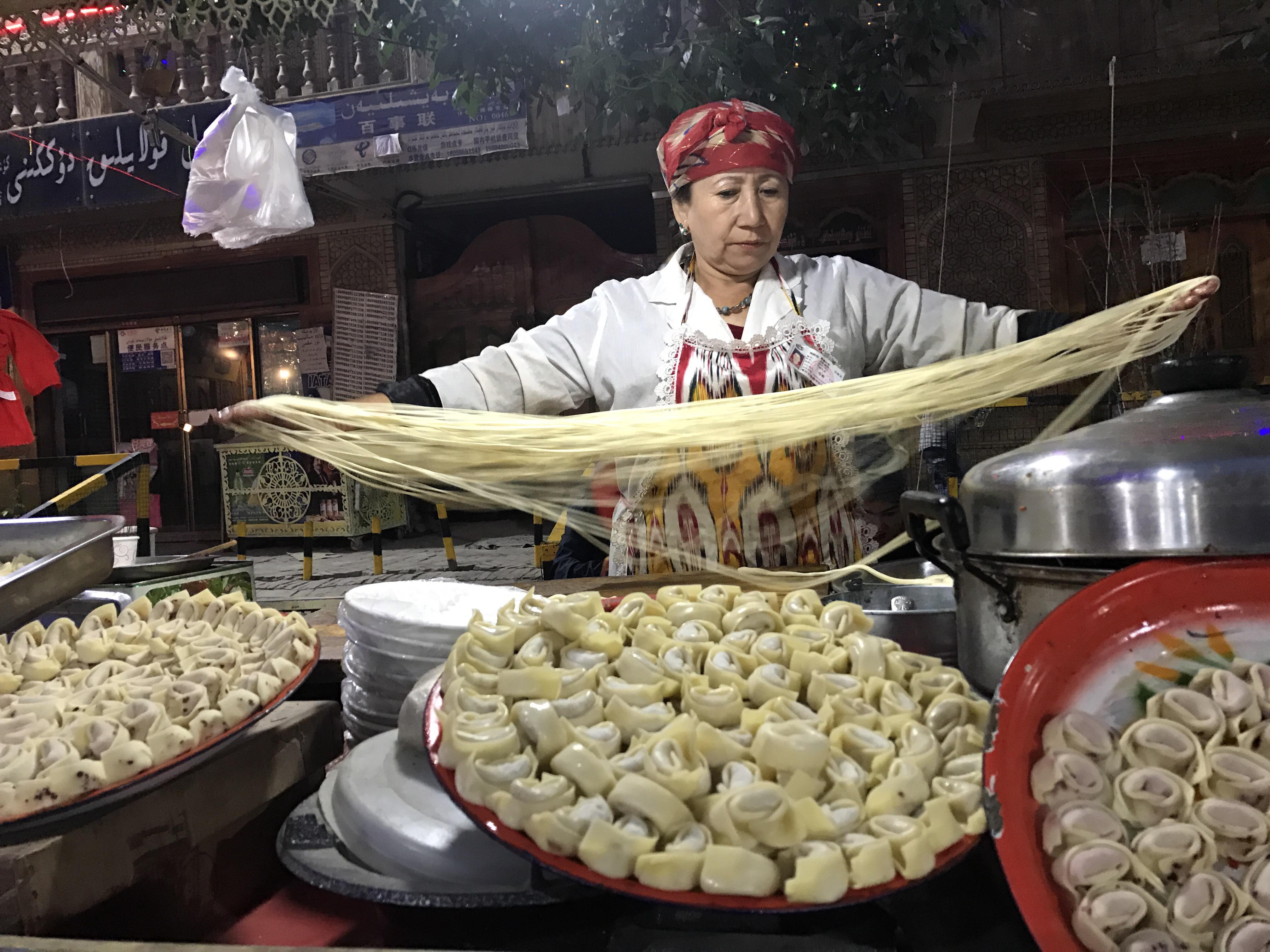 handmaden, noodles, kashgar, traditional, dumplings