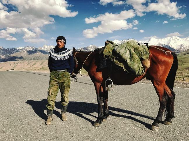 kyrgyz and horse